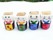 Dentada burclover de mesa boneca mini planta em vaso presente e grama personalidade headgrass boneca