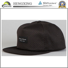 Black Snapback Cap Mesh Cap