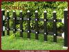 black aluminum garden edging slat fence