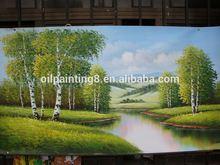 handmade landscape oil painting 3d flower pictures