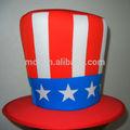 Del partido del Festival de poliéster ee.uu. bandera del partido tío Sam sombrero