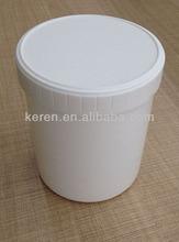 cosmetici vaso di plastica trasparente con coperchio