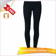 87%polyamide/13%spandex ladies lycra yoga pants waistband with hidden pocket