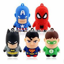 Soft PVC usb flash drive,new gift novelty superhero style usb 2.0/usb flash drive skin/usb water heater LFN-064