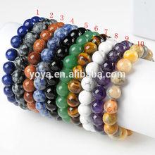 BRG1005 Natural stone beads elastic bracelet,gemstone beads stretch bracelet,semi precious stone elastic bracelet