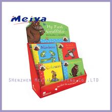 China shenzhen custom cardboard book display stands /book shelf /toys cardboard display rack