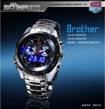 WYD-516 TVG Brand Stainless Steel Black And Silver Men's Digital Sport Watches 3ATM Waterproof