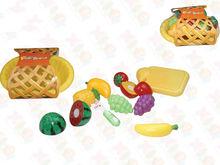 Basket fruits and vegetables, kids plastic toys