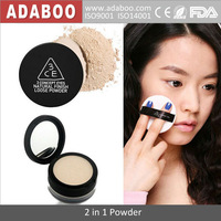 2014 Brand Cosmetics wholesale 3 Colors 3CE Powder compact two-in-one Loose Powder Makeup Base Powder