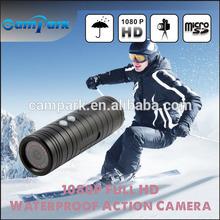 drift hd action sport camera attached on helmet