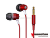 cool earbuds,latest fashion long top design,braid cord metal earbud/earphone