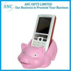 wholesale piggy toy promotional pu phone holder