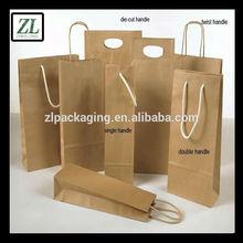 wholesale brown paper wine bag