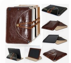 PU Leather 360 Rotating Magnet Stand Smart Protection Case Cover for apple ipad mini