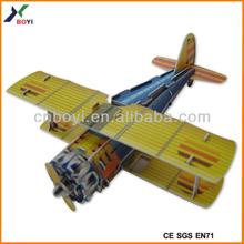 Promotional 3d Paper Puzzle Plane Custom