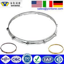 "YONTONE! ISO9001 Ningbo Beilun OEM Die Casting Mold Design Factory | 14""-10 Hole/Lug Chrome Die Cast Snare Drum Hoops"