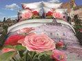 niza kosmos 4 piezas de ropa de cama conjunto 50 de algodón 50 poliester 3d pantalla de impresión de las hojas de cama al por mayor