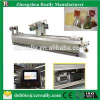 continuing vacuum stretch film packing machine bread stretch vacuum packing machine