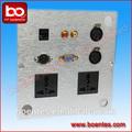 الألومنيوم وسائل الإعلام الجدار مآخذ كهربائية/ rj45 لوحة الحائط مع الرسم المعادن