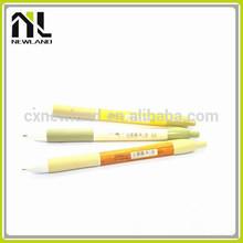 Hot deisgn cute press high quality office plastic printed short signature bulk ballpoint advertising promotion korean pen