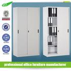 Modern office file storage metal white customized sliding door cabinet