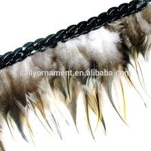 Decorative feather trim black ribbon\ plastic accessories trim feather drop trim