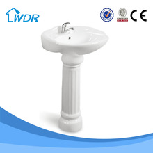 Bathroom porcelain round ceramic pedestal bacia