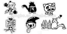 Personalized pvc cute tiger cartoon design sticke