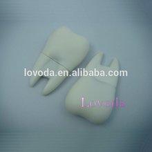 customized cool dentist gifts 3D drive medical usb flash,500GB tooth shape USB flash drive LFN-211