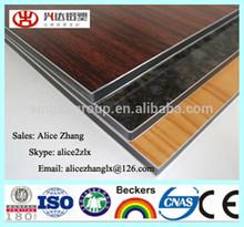 Indoor Usage Wood Look PE Finish Aluminum Composite Panel