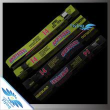 New product!! soprt team woven bracelet with black slide lock