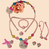 2014 promotional gift children hair accessories set pearl accessories