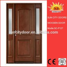 Oak wood steel wooden doors with glass SC-W127