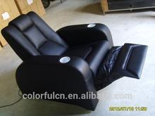 Luxury Living Room Sofa And Black Recliner Leather Sofa(SSL20073)