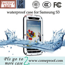 RedpepperGorilla Glass metal waterproof case for Samsung Galaxy S3 mini i8190 Protective Cover, Aluminum Cover