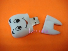 oem pvc promotional gift for dentist or hospital workers, tooth shape usb flash drive lot with special smile face LFN-211