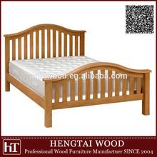 modern design solid oak round headboard wood bed