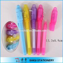 Cute fancy colorful barrel invisible led pen