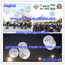lighting inflatable helium balloon/ LED inflatable ball/ luminous inflatable advertisement