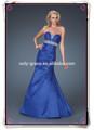 simples querida strapless tafetá azul estilo sereia prom vestido longo gl059