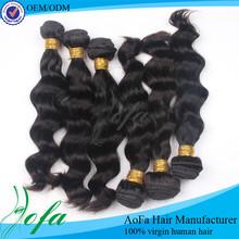 Factory 6a no shedding 100% natural wholesale hair piece