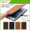 High quality for ipad mini case,PU Leather Flip With Stand Case for ipad mini 2