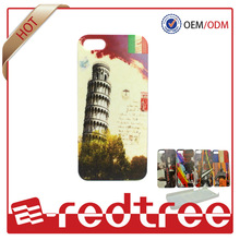 The leaning tower handmade oil printing new designer case for iphone