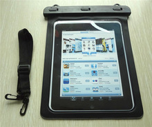 Alibaba express black PVC waterproof pouch for full format tablet for diving
