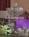 Nuevo! De metal de plata con candelabros 6 bola de cristal para la decoración de la boda