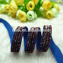 "3/8"" Super Pretty Glitter Stripe Velvet Ribbon Garment DIY Ribbon B-123"