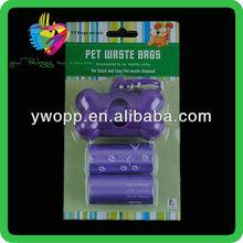 Yiwu purple bone shaped dog trash bag dispenser