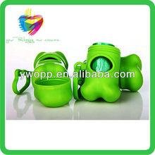Yiwu green bone shaped pet poop bag dispenser