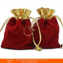 Merry Chrismas gift ,cheap velvet drawstring pouch