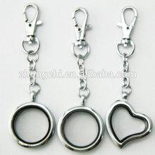 Zinc Alloy floating locket key chain wholesale